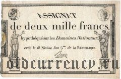 Франция, 2000 франков 1795 года