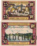 Нойруппин (Neuruppin), 2 нотгельда 1921 года