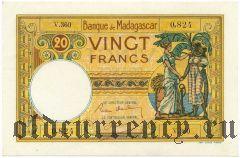 Мадагаскар, 20 франков (1937-47) года