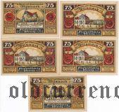 Вильснак (Wilsnack), 5 нотгельдов 1922 года