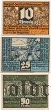 Вайсензе (Weissensee), 3 нотгельда 1921 года