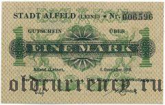 Альфельд (Alfeld), 1 марка 1918 года