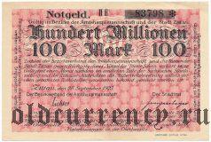 Циттау (Zittau), 100.000.000 марок 1923 года