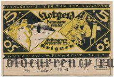 Франция, Avignon, 5 марок = 50 сантимов 1921 года