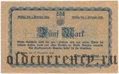 Бунцлау/Болеславец (Bunzlau), 5 марок 1918 года