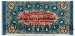 Билефельд (Bielefeld), 1/2 марки 1923 года. На ткани