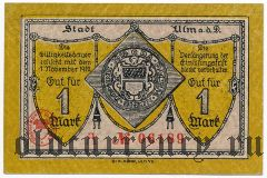 Ульм (Ulm), 1 марка 1918 года