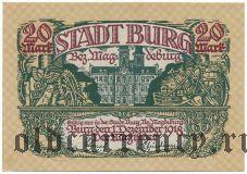 Бург (Burg), 20 марок 1918 года