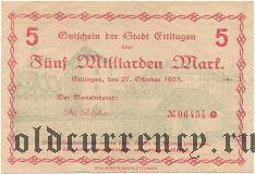 Тутлинген (Tuttlingen), 10 марок 1918 года