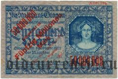 Глогув (Glogau), 5.000.000 марок 1923 года, надпечатка на 1000 марок