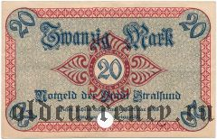 Штральзунд (Stralsund), 20 марок 1919 года