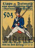 Детмольд (Detmold), 50 пфеннингов 1920 года. Вар.1