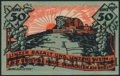 Линц (Linz), 50 пфеннингов 1919 года. Вар. 1