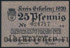 Эркеленц (Erkelenz), 25 пфеннингов 1920 года