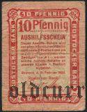 Росток (Rostock), 10 пфеннингов 1920 года