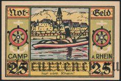 Камп-Борнхофен (Camp Bornhofen), 25 пфеннингов 1921 года