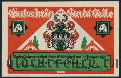 Целле (Celle), 75 пфеннингов 1922 года