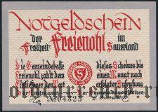 Фрайеноль (Freienohl), 25 пфеннингов