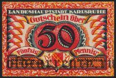 Карлсруэ (Karlsruhe), 50 пфеннингов 1920 года