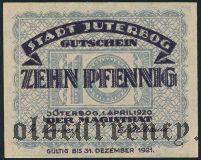 Йютербог (Jüterbog), 10 пфеннингов 1920 года