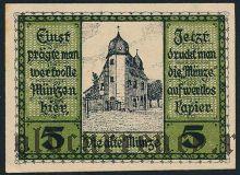 Шлайц (Schleiz), 5 пфеннингов 1919 года