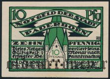 Падерборн (Paderborn), 10 пфеннингов 1920 года