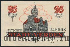 Верден (Verden), 25 пфеннингов 1920 года