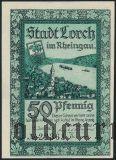 Лорх (Lorch), 50 пфеннингов 1921 года. Вар. 2