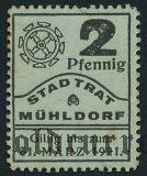 Мюльдорф (Mühldorf), 2 пфеннинга 1921 года