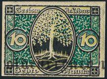 Зелов (Seelow), 10 пфеннингов 1920 года