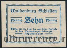 Вальденбург (Waldenburg), 10 пфеннингов 1921 года. Вар. 1
