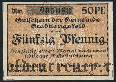 Штадтленгсфельд (Stadtlengsfeld), 50 пфеннингов 1917 года