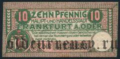 Франкфурт-на-Одере (Frankfurt a.d. Oder), 10 пфеннингов 1920 года