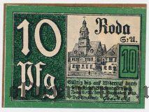 Рода (Roda), 10 пфеннингов 1920 года