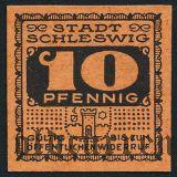 Шлезвиг (Schleswig), 10 пфеннингов 1920 года