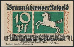 Брауншвейг (Braunschweig), 10 пфеннингов 1921 года