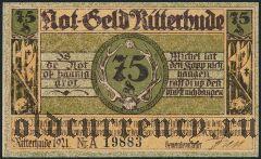 Риттерхуде (Ritterhude), 75 пфеннингов 1921 года