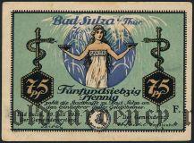 Бад-Зульца (Bad Sulza), 75 пфеннингов 1921 года