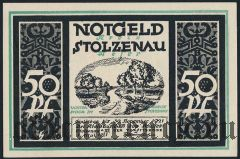 Штольценау (Stolzenau), 50 пфеннингов 1921 года. Вар. 4