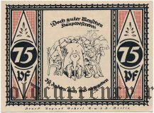 Штольценау (Stolzenau), 75 пфеннингов 1921 года. Вар. 1