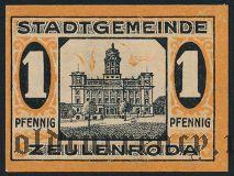 Цойленрода (Zeulenroda), 1 пфеннинг 1920 года