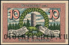 Лобенштайн (Lobenstein), 10 пфеннингов 1921 года