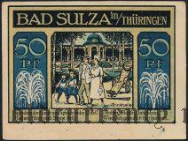 Бад-Зульца (Bad Sulza), 50 пфеннингов 1921 года