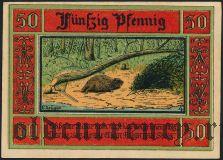 Акен (Aken), 50 пфеннингов 1921 года. Вар. 2