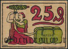 Блументаль (Blumenthal), 25 пфеннингов 1921 года