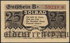 Бад-Зудероде (Bad Suderode), 25 пфеннингов 1921 года