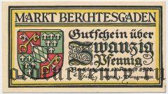 Берхтесгаден (Berchtesgaden), 20 пфеннингов 1920 года