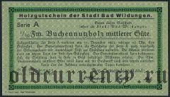 Бад-Вильдунген (Bad Wildungen), 1/10 Festmeter Buchennutzholz 1923 года