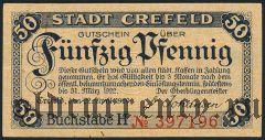 Крефельд (Crefeld), 50 пфеннингов 1920 года. Вар. 1