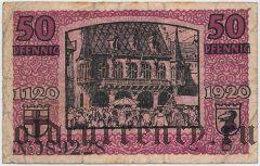 Фрайбург-им-Брайсгау (Freiburg im Breisgau), 50 пфеннингов 1920 года
